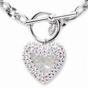 💘Tarina Tarantino Bubble Heart Crystal Necklace